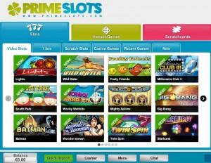 primeslots casino lobby