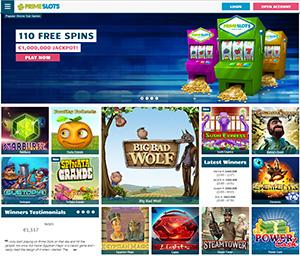 primeslots online casino homepage