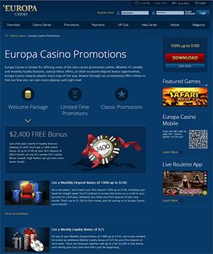 europa casino promo