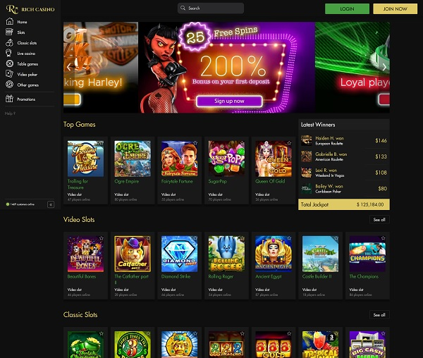 Rich Casino pokies